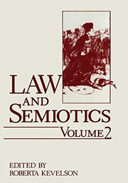 Cover of: Law and semiotics