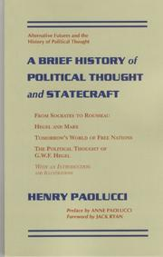 Cover of: A brief history of political thought and statecraft