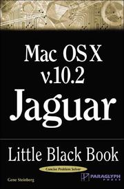 Cover of: Mac OS X Version 10.2 Jaguar Little Black Book