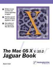 Cover of: The Mac OS X Version 10.2 Jaguar Book | Mark Bell