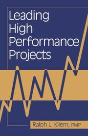 Cover of: Leading high performance projects
