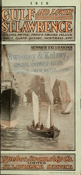 Cover of: Gulf and Lower St. Lawrence | Quebec Steamship Company.  St. Lawrence Service