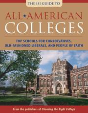Cover of: All-American Colleges | John Zmirak