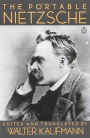 Cover of: The portable Nietzsche
