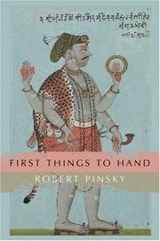 Cover of: First things to hand