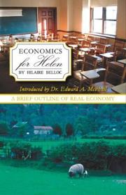 Cover of: Economics for Helen | Hilaire Belloc