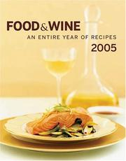 Cover of: Food & Wine Annual Cookbook 2005 |