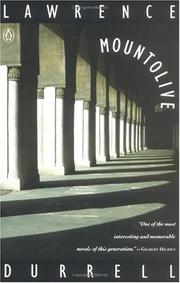 Mountolive by Lawrence Durrell, Lawrence Durrell