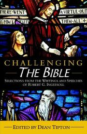 Cover of: Challenging the Bible: