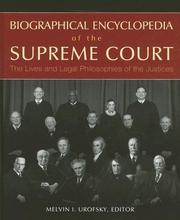 Cover of: Biographical Encyclopedia of the Supreme Court