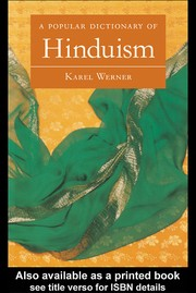 Cover of: A popular dictionary of Hinduism | Karel Werner
