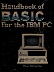 Handbook of BASIC for the IBM personal computer