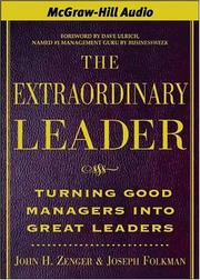 Cover of: The Extraordinary Leader