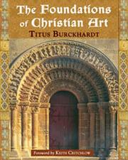 Cover of: The foundations of Christian art