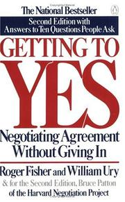 Cover of: Getting to yes: negotiating agreement without giving in