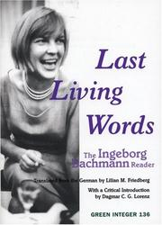 Cover of: Last Living Words