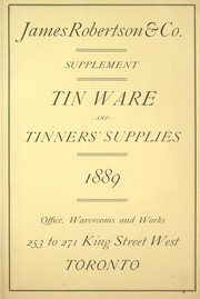 Tin ware and tinners' supplies