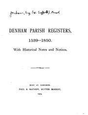 Denham parish registers, 1539-1850