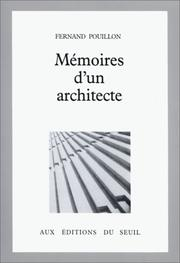 Cover of: Mémoires d'un architecte