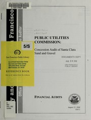 Public Utilities Commission by San Francisco (Calif.). Office of the Controller. City Services Auditor Division.