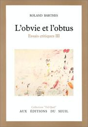 Cover of: L' obvie et l'obtus