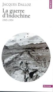 Cover of: La guerre d'Indochine
