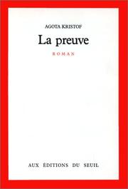 Cover of: La preuve