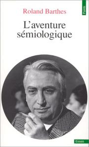 Cover of: L'\Aventure Semiologique
