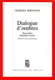 Cover of: Dialogue d'ombres