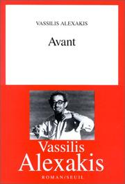 Cover of: Avant