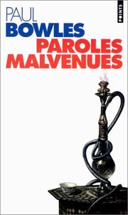 Cover of: Paroles malvenues
