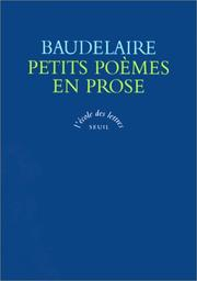 Cover of: Petits Poemes En Prose