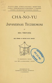 Cover of: Cha-no-yu | Ida Trotzig