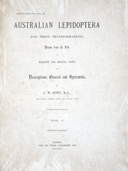 Cover of: Australian lepidoptera and their transformations, drawn from the life | A. W. Scott