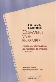 Cover of: Comment vivre ensemble