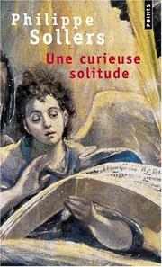 Cover of: Une curieuse solitude