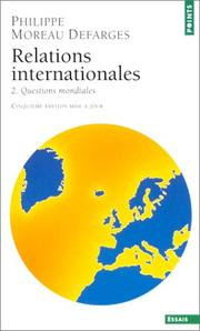 Cover of: Relations internationales, tome 2