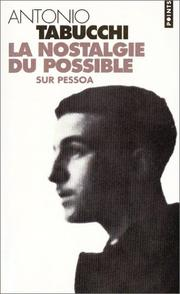 Cover of: La Nostalgie du possible