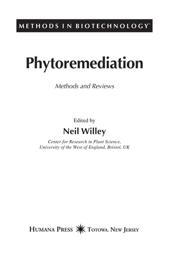 Phytoremediation by edited by Neil Willey