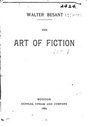 Cover of: The Art of Fiction | Walter Besant, Henry James Jr.