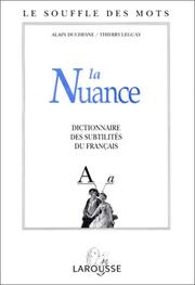 Cover of: La nuance