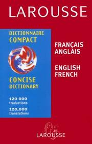 Cover of: Larousse Concise Dictionary French-English/English-French | Larousse