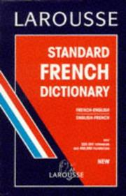 Cover of: Standard French-English, English-French dictionary |