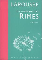 Cover of: Dictionnaire des rimes