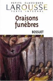 Cover of: Oraisons Funebres
