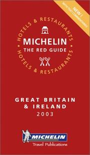 Cover of: Michelin Red Guide 2003 Great Britain & Ireland | Michelin Travel Publications