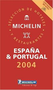 Cover of: Michelin Red Guide 2004 Espana & Portugal: Hotels & Restaurants | Michelin Travel Publications