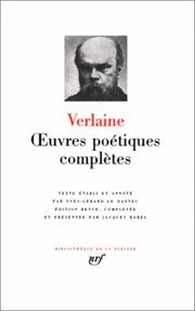 Cover of: Verlaine