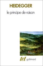 Cover of: Le principe de raison