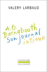 Cover of: A.O. Barnabooth: son journal intime